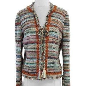 🔥NWT Tory Burch Abageil multi color wool blazer 6